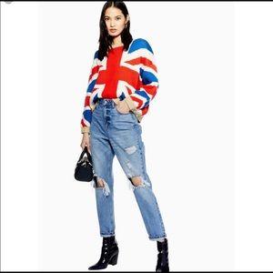 Topshop knit Union Jack jumper sweater